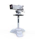TV Professional Studio Digital Video Camera. On White Background. 3d render Stock Photography