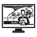 TV prognoza pogody ikona, prosty styl royalty ilustracja