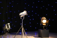 TV projectors lights Royalty Free Stock Images