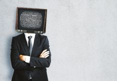TV przewodzący mężczyzna zdjęcia royalty free