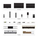 TV Racks and Electronics Stock Photos