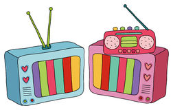 TV and radio Royalty Free Stock Photos