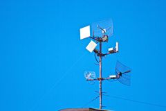 Tv and radio antena Royalty Free Stock Photography
