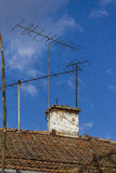 Tv and radio antena Stock Photo