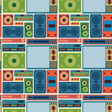 Tv radio seamless pattern Royalty Free Stock Image
