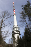 TV and Radio Transmitter Cukrak near town Prague, Czech Republic Stock Photos