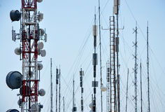 TV and radio transmitters Stock Images