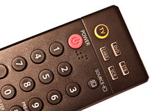 TV Remote. Tv, dvd, stb and vcr remote, detail on choosing tv royalty free stock photos