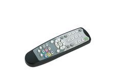 Tv remote. Control isolated on white Royalty Free Stock Photo