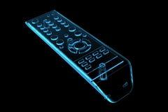 TV remote (3D xray blue). TV remote (3D xray blue transparent Stock Photography