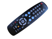 TV remote. Isolated on white background Stock Images