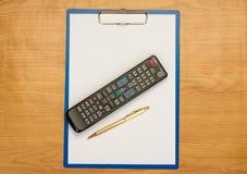 TV remote stock image