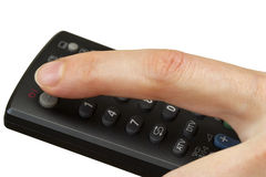 TV remote (clipping path isolation) Stock Images