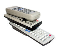 Tv remote control. Isolated tv dvd remote control stock photography