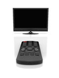 TV and remote control Stock Images