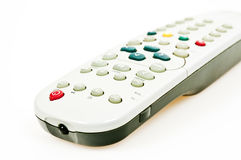Tv remote control. Isolated tv remote control on white background Stock Images