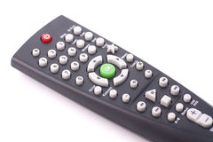 TV remote control. Isolated on white Royalty Free Stock Photo