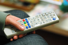 Tv Remote Control. It is a Chinese version. a dirty one Stock Photography