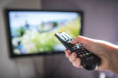 TV and remote control Royalty Free Stock Photography