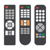 Tv Remote Control Icons Set on White Background. Vector vector illustration