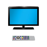 TV and remote control. Royalty Free Stock Photography