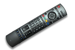 TV Remote Control isolated with clipping path Stock Images