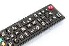 TV Remote Control Isolated on White Stock Photos