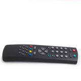 Tv remote control isolated on white background. Black tv remote control isolated on white stock image