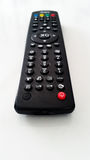 TV Remote Control Isolated on White royalty free stock photography