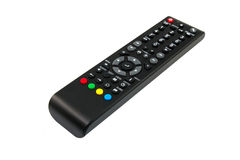 Tv remote control keypad black Royalty Free Stock Image