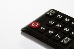 Tv remote control keypad black Royalty Free Stock Images
