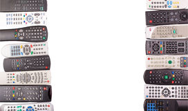 Tv remote control keypad black Stock Photography