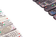 Tv remote control keypad black Royalty Free Stock Photo