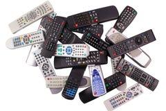 Tv remote control keypad black Stock Photo