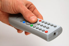 TV remote control panel Stock Images
