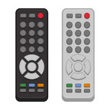 TV Remote Control Set On White Background. Vector Royalty Free Stock Image