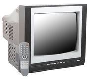 Tv and remote control Royalty Free Stock Image