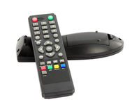 TV remote control on white background Stock Image