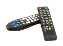 TV remote control on white background Royalty Free Stock Images