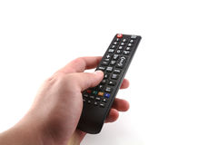 Tv remote control. On white background Royalty Free Stock Photography