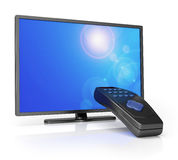 TV with remote control Stock Photos