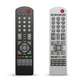 Tv remote controller. The black and white tv remote controller on the white background Stock Images