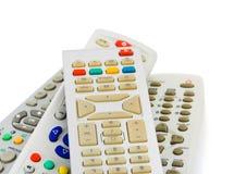 TV remote controls Stock Photo