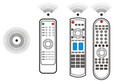 TV remote device. The illustration of TV remote device Royalty Free Stock Photo