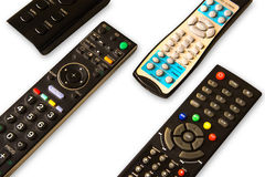TV remote devices Stock Image