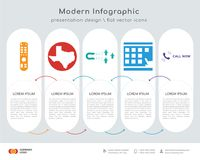Tv remote infographics design. Infographics design  and tv remote, state of Texas, lead generation, scratch card, call now icons can be used for workflow layout Royalty Free Stock Image