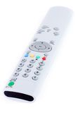 TV remote isolated. TV remote control isolated on white background Royalty Free Stock Photos