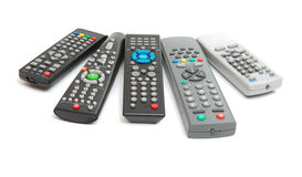 TV remote isolated stock photography