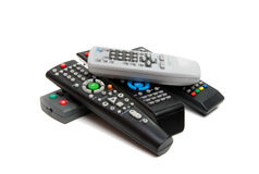 TV remote isolated royalty free stock images