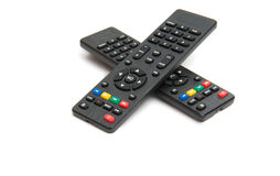 TV remote isolated stock photo